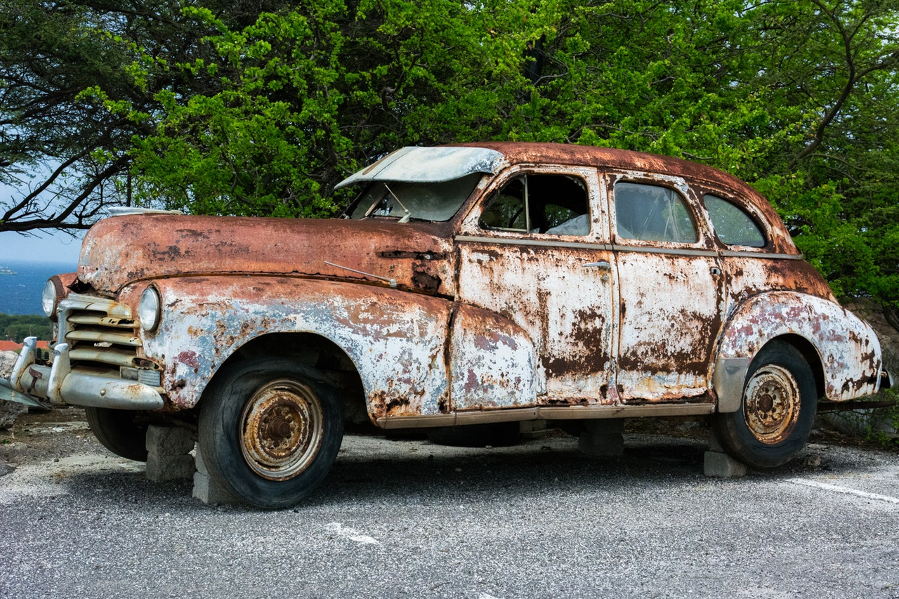 broken car vehicle vintage