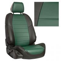 Авточехол из экокожи, Черный + Зеленый